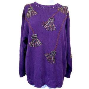 Vintage Victoria Harbour Embellished Sweater